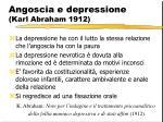 angoscia e depressione karl abraham 1912