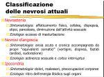 classificazione delle nevrosi attuali