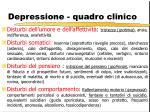 depressione quadro clinico