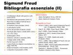 sigmund freud bibliografia essenziale ii