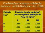 combina o de calagem e aduba o fosfatada no rs kochhann et al 1982