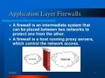 application layer firewalls