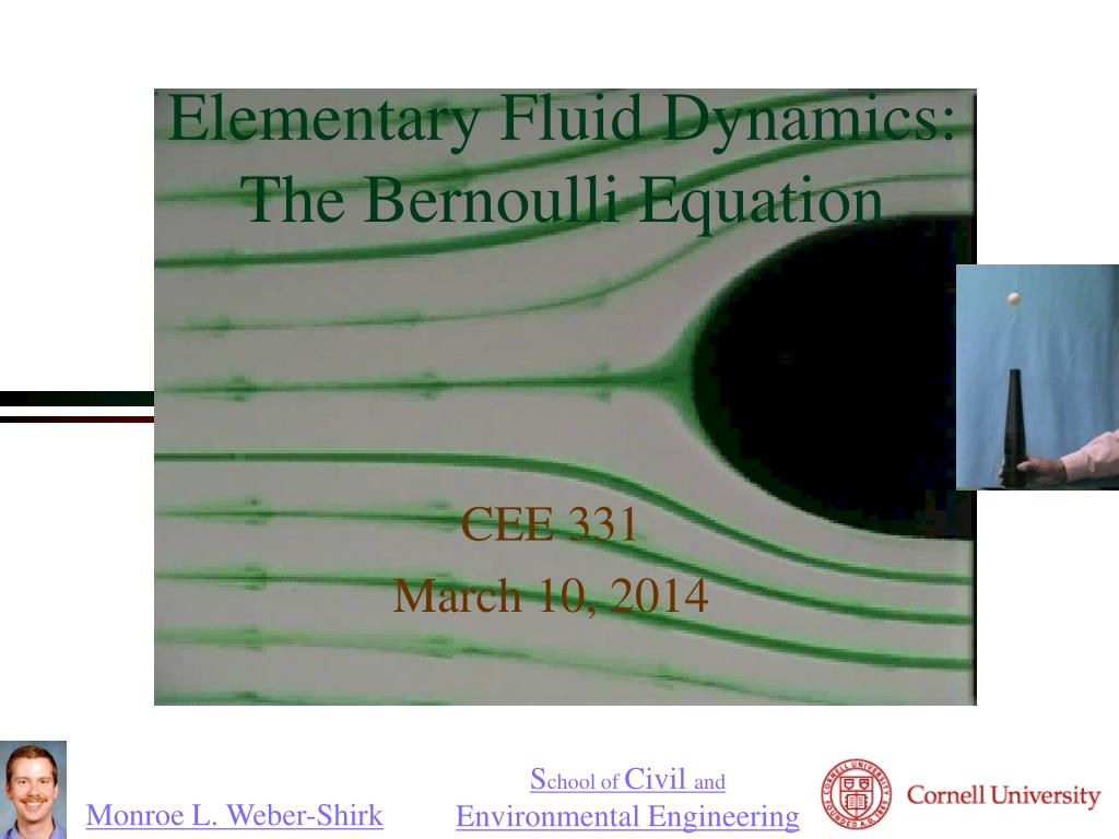 elementary fluid dynamics the bernoulli equation l.