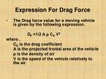 expression for drag force