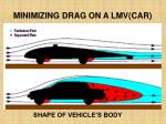 minimizing drag on a lmv car
