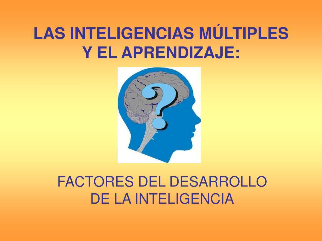 las inteligencias m ltiples y el aprendizaje l.
