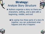 strategy analyze story structure