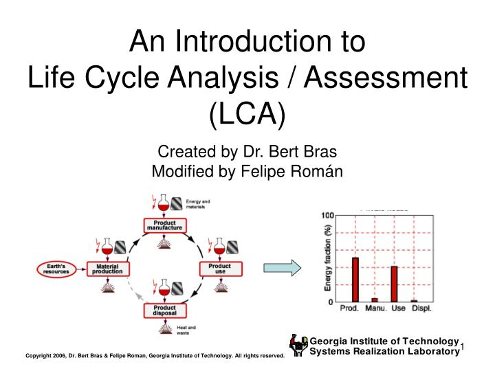 an introduction to life cycle analysis assessment lca n.