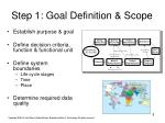 step 1 goal definition scope