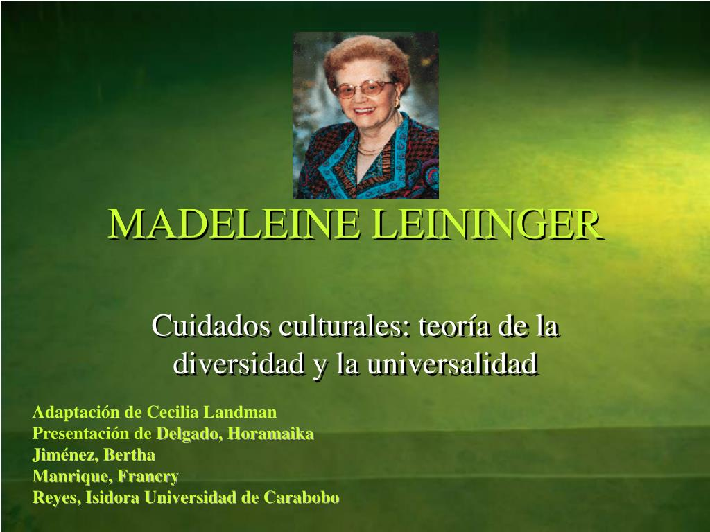 madeleine leininger transcultural nursing theory pdf