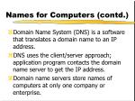 names for computers contd