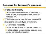 reasons for internet s success