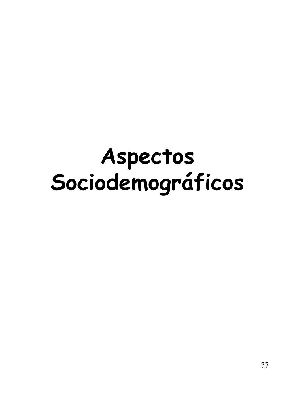 Aspectos Sociodemográficos