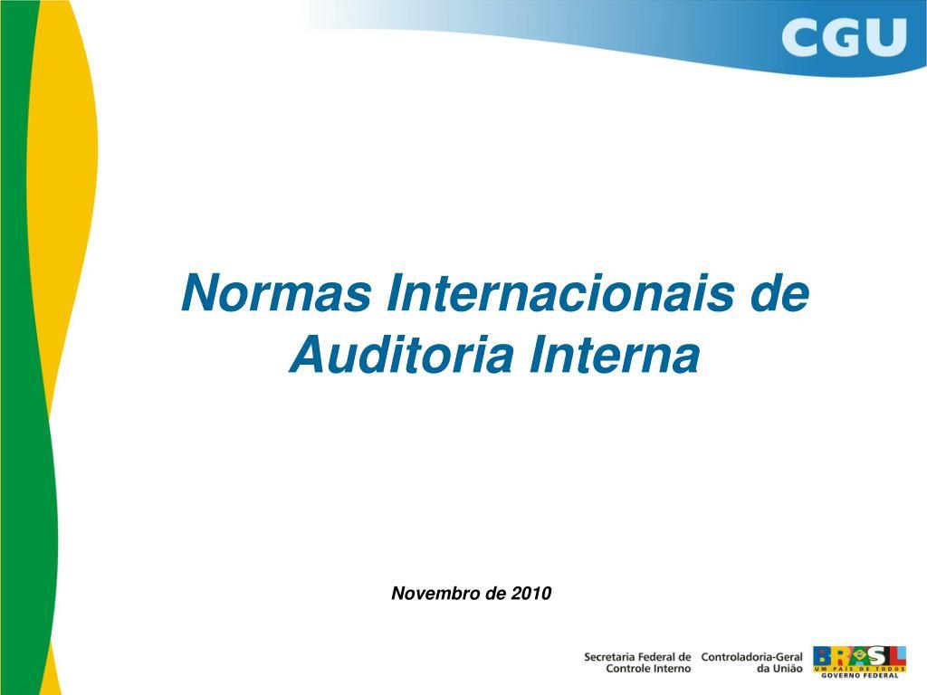 normas internacionais de auditoria interna l.