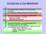 an overview of iron metabolism