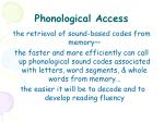 phonological access