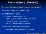 romanticism 1820 1900