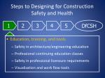 steps to designing for construction safety and health16