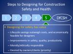 steps to designing for construction safety and health21