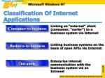 classification of internet applications