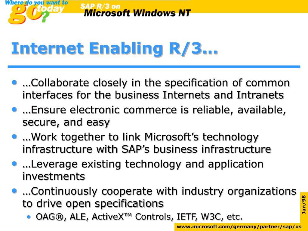 Internet Enabling R/3…