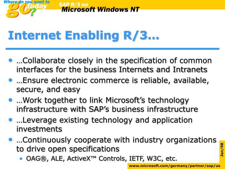 Internet enabling r 3