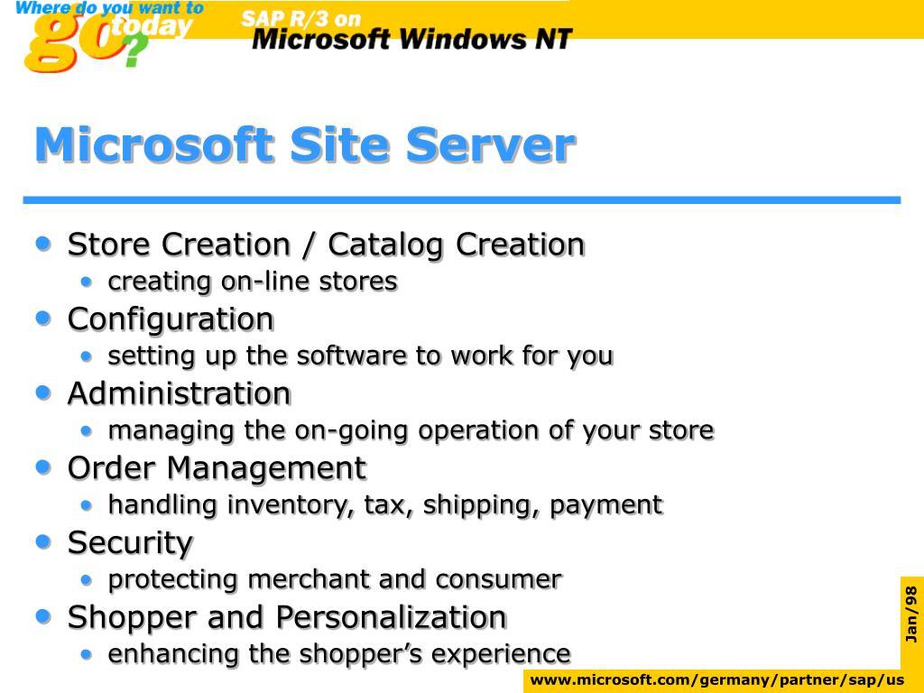 Microsoft Site Server