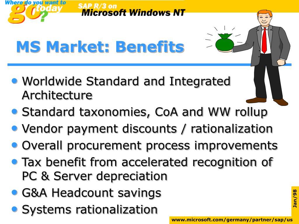 MS Market: Benefits