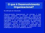 o que desenvolvimento organizacional