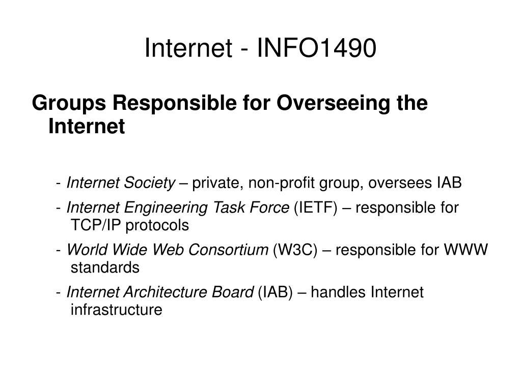 Internet - INFO1490