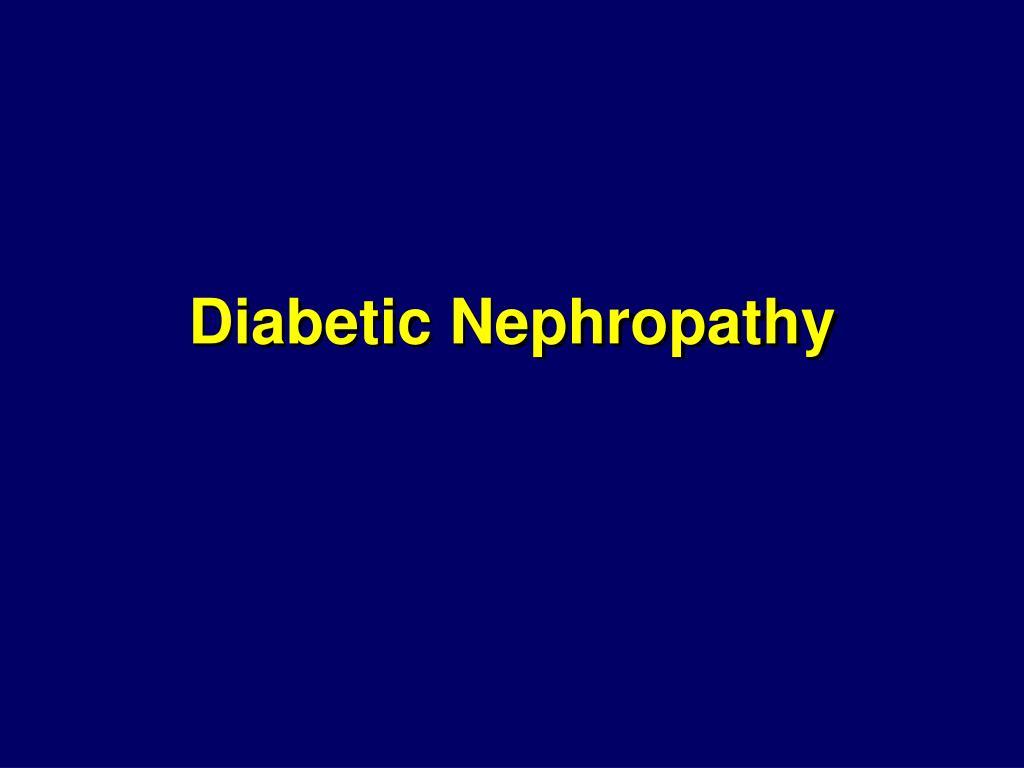 diabetic nephropathy l.