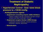 treatment of diabetic nephropathy