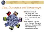 chat discussion and newsgroups