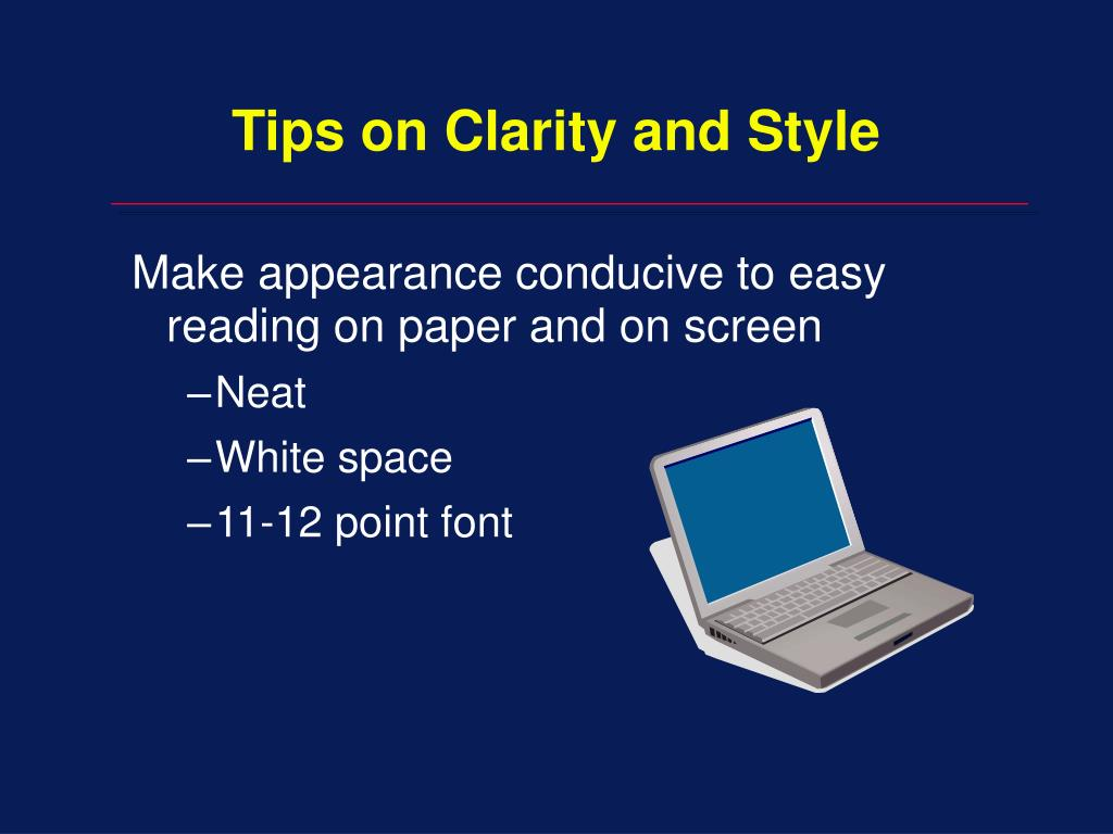 Tips on Clarity and Style