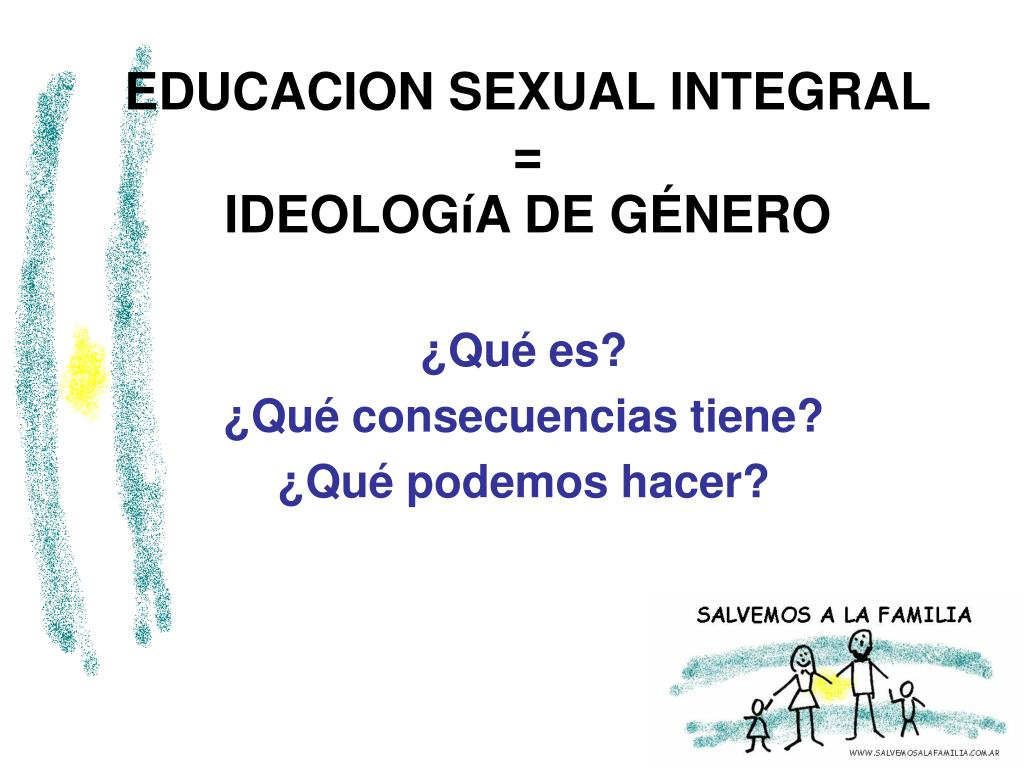 educacion sexual integral ideolog a de g nero l.