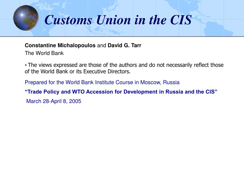 customs union in the cis l.