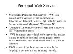 personal web server