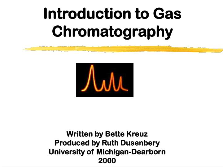 introduction to gas chromatography n.