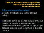 1948 las naciones unidas aprueba la declaraci n universal de los derechos humanos