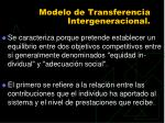 modelo de transferencia intergeneracional