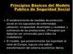 principios b sicos del modelo publico de seguridad social