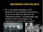 sociedad capitalista