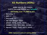 as numbers asns