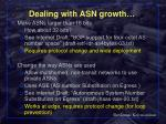 dealing with asn growth