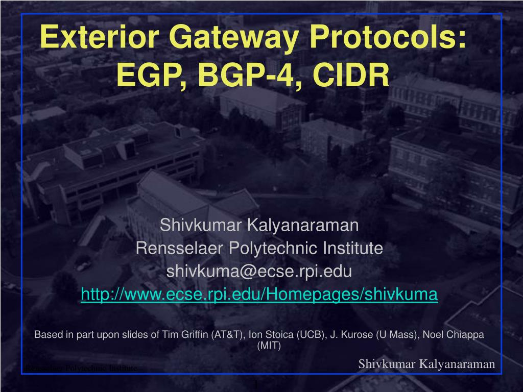 exterior gateway protocols egp bgp 4 cidr l.