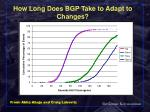 how long does bgp take to adapt to changes