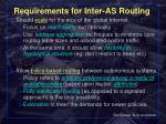 requirements for inter as routing