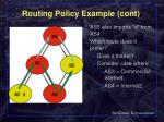 routing policy example cont