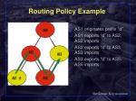 routing policy example