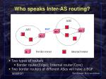 who speaks inter as routing